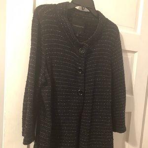 Classique Entier  XL black cotton wool jacket